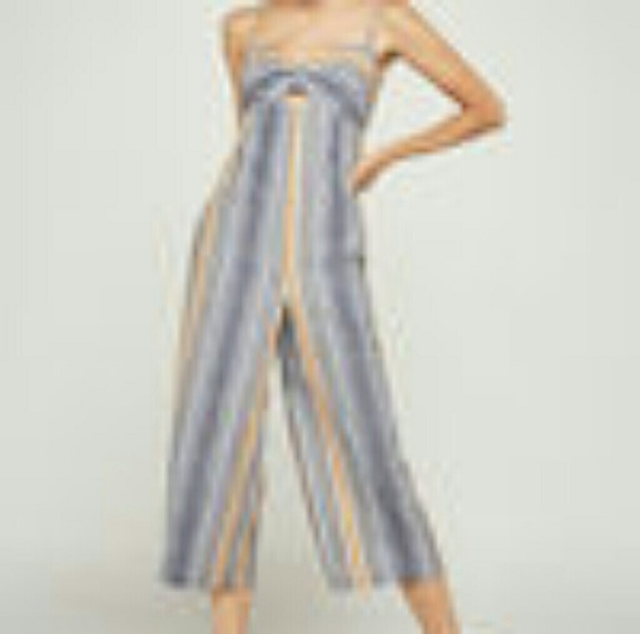 d42507a5b83 Variegated stripe Culotte jumpsuit-with pockets